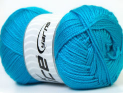Lot of 4 x 100gr Skeins Ice Yarns DORA Hand Knitting Yarn Turquoise