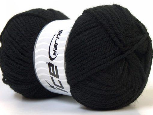 Lot of 4 x 100gr Skeins Ice Yarns Bulky ATLAS Hand Knitting Yarn Black