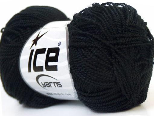 Lot of 10 Skeins Ice Yarns ETAMIN Hand Knitting Yarn Black