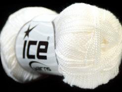 Lot of 10 Skeins Ice Yarns ETAMIN Hand Knitting Yarn White
