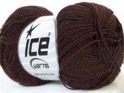 Lot of 10 Skeins Ice Yarns ETAMIN Hand Knitting Yarn Brown