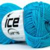 Lot of 10 Skeins Ice Yarns ETAMIN Hand Knitting Yarn Turquoise
