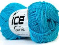 Lot of 10 Skeins Ice Yarns ETAMIN Hand Knitting Yarn Turquoise