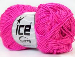 Lot of 10 Skeins Ice Yarns ETAMIN Hand Knitting Yarn Fuchsia