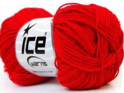 Lot of 10 Skeins Ice Yarns ETAMIN Hand Knitting Yarn Red