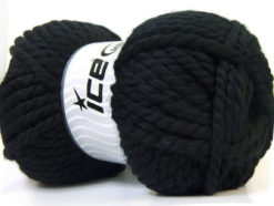 Lot of 2 x 150gr Skeins Ice Yarns SuperBulky ALPINE (45% Wool) Yarn Black