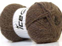 Lot of 4 x 100gr Skeins Ice Yarns ZERDA ALPACA (30% Alpaca 70% Dralon) Yarn Brown