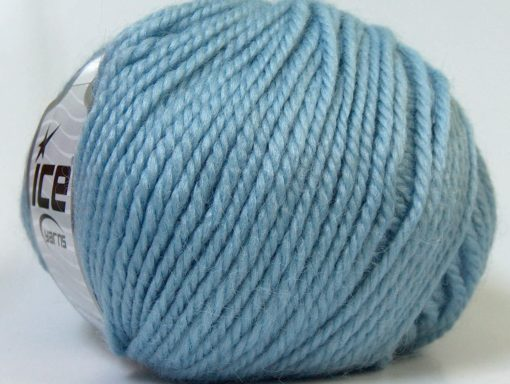 Lot of 4 x 100gr Skeins Ice Yarns ALPACA BULKY (25% Alpaca 35% Wool) Yarn Light Blue