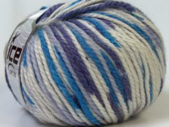 Lot of 4 x 100gr Skeins Ice Yarns ALPACA BULKY MAGIC (25% Alpaca 35% Wool) Yarn Purple Blue White