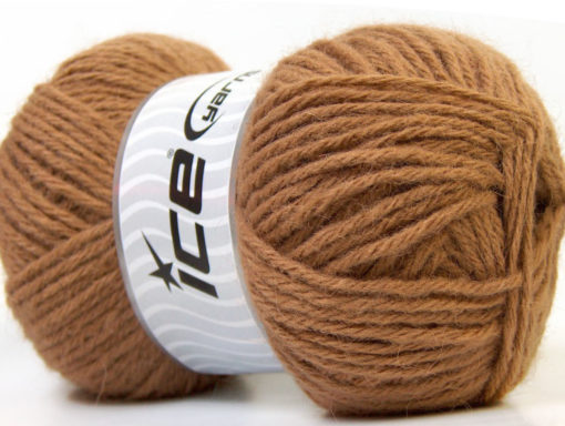 Lot of 4 x 100gr Skeins Ice Yarns ZERDA ALPACA (30% Alpaca 70% Dralon) Yarn Light Brown
