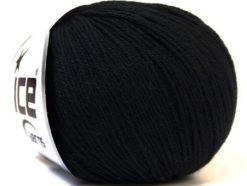 Lot of 6 Skeins Ice Yarns BABY MERINO (40% Merino Wool) Yarn Black
