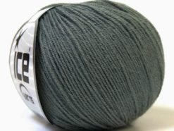 Lot of 6 Skeins Ice Yarns BABY MERINO (40% Merino Wool) Hand Knitting Yarn Grey
