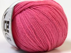 Lot of 6 Skeins Ice Yarns BABY MERINO (40% Merino Wool) Hand Knitting Yarn Pink