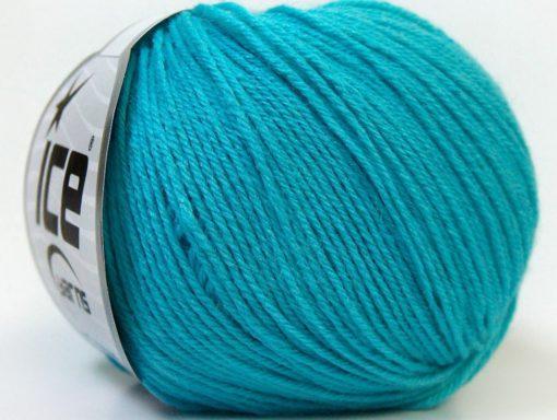 Lot of 6 Skeins Ice Yarns BABY MERINO (40% Merino Wool) Yarn Turquoise
