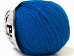 Lot of 6 Skeins Ice Yarns BABY MERINO (40% Merino Wool) Hand Knitting Yarn Blue