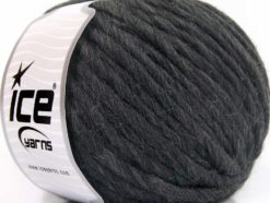 Lot of 4 x 100gr Skeins Ice Yarns PURE WOOL SUPERBULKY (100% Australian Wool) Yarn Dark Grey