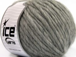 Lot of 4 x 100gr Skeins Ice Yarns PURE WOOL SUPERBULKY (100% Australian Wool) Yarn Light Grey