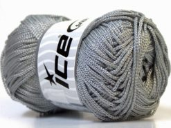 Lot of 4 x 100gr Skeins Ice Yarns MACRAME CORD Hand Knitting Yarn Grey