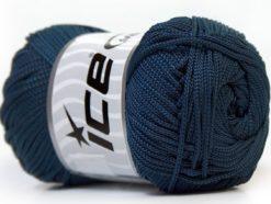 Lot of 4 x 100gr Skeins Ice Yarns MACRAME CORD Hand Knitting Yarn Navy