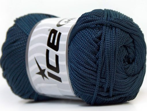 Lot of 4 x 100gr Skeins Ice Yarns MACRAME CORD Hand Knitting Yarn Navy