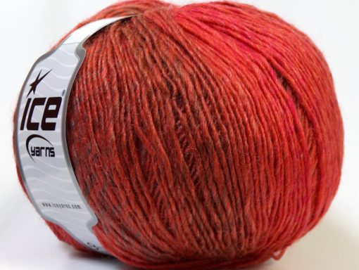 Lot of 4 x 100gr Skeins Ice Yarns MIRAGE COLOR (50% Wool) Yarn Red Brown Copper