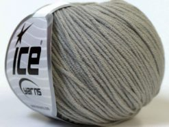 Lot of 8 Skeins Ice Yarns ALARA (50% Cotton) Hand Knitting Yarn Grey