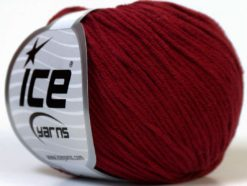 Lot of 8 Skeins Ice Yarns ALARA (50% Cotton) Hand Knitting Yarn Burgundy