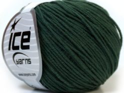 Lot of 8 Skeins Ice Yarns ALARA (50% Cotton) Hand Knitting Yarn Dark Green