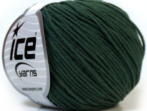 Lot of 8 Skeins Ice Yarns ALARA (50% Cotton) Hand Knitting Yarn Dark Green
