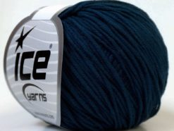 Lot of 8 Skeins Ice Yarns ALARA (50% Cotton) Hand Knitting Yarn Navy