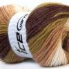Lot of 4 x 100gr Skeins Ice Yarns BABY BATIK Yarn Brown Green Camel White