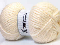 Lot of 2 x 150gr Skeins Ice Yarns SuperBulky ALPINE ALPACA (30% Alpaca 10% Wool) Yarn Cream