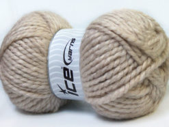 Lot of 2 x 150gr Skeins Ice Yarns SuperBulky ALPINE ALPACA (30% Alpaca 10% Wool) Yarn Beige