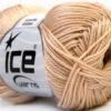 Lot of 6 Skeins Ice Yarns CAMILLA COTTON (100% Mercerized Cotton) Yarn Beige
