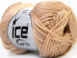 Lot of 6 Skeins Ice Yarns CAMILLA COTTON (100% Mercerized Cotton) Yarn Beige