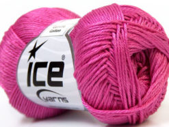 Lot of 6 Skeins Ice Yarns CAMILLA COTTON (100% Mercerized Cotton) Yarn Orchid
