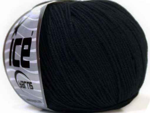 Lot of 8 Skeins Ice Yarns BABY SUMMER (60% Cotton) Hand Knitting Yarn Black