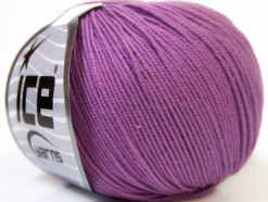 Lot of 8 Skeins Ice Yarns BABY SUMMER (60% Cotton) Hand Knitting Yarn Lavender