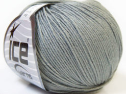 Lot of 8 Skeins Ice Yarns BABY SUMMER (60% Cotton) Hand Knitting Yarn Grey