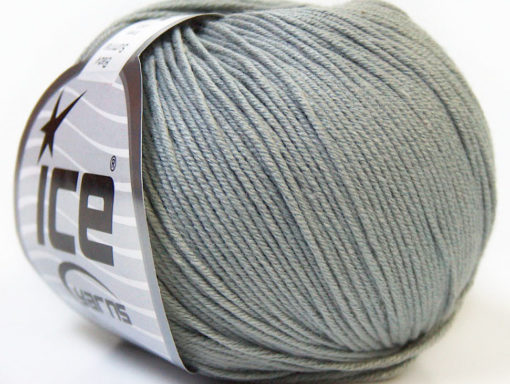 Lot of 8 Skeins Ice Yarns BABY SUMMER (60% Cotton) Hand Knitting Yarn Grey