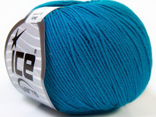 Lot of 8 Skeins Ice Yarns BABY SUMMER (60% Cotton) Hand Knitting Yarn Blue