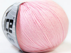 Lot of 8 Skeins Ice Yarns BABY SUMMER (60% Cotton) Hand Knitting Yarn Baby Pink