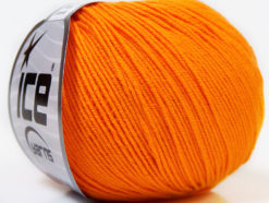Lot of 8 Skeins Ice Yarns BABY SUMMER (60% Cotton) Yarn Light Orange