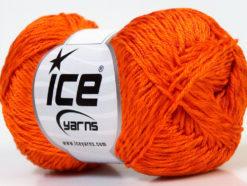 Lot of 4 x 100gr Skeins Ice Yarns TENA (50% Cotton) Hand Knitting Yarn Orange