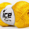 Lot of 4 x 100gr Skeins Ice Yarns TENA (50% Cotton) Hand Knitting Yarn Yellow