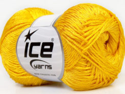 Lot of 4 x 100gr Skeins Ice Yarns TENA (50% Cotton) Hand Knitting Yarn Yellow