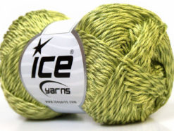 Lot of 4 x 100gr Skeins Ice Yarns TENA (50% Cotton) Hand Knitting Yarn Green