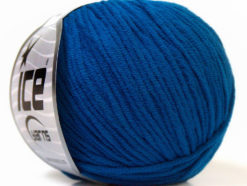 Lot of 8 Skeins Ice Yarns ALARA (50% Cotton) Hand Knitting Yarn Bright Blue