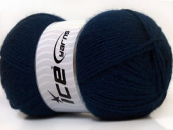 Lot of 4 x 100gr Skeins Ice Yarns SUPER BABY Hand Knitting Yarn Navy