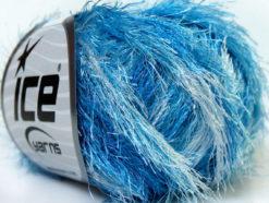 Lot of 8 Skeins Ice Yarns EYELASH COLORFUL Hand Knitting Yarn Blue Shades